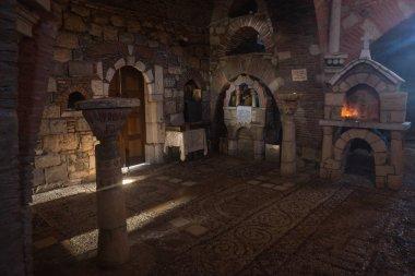 Church interior at Ancient Mantineia, Arcadia, Peloponnese, Greece