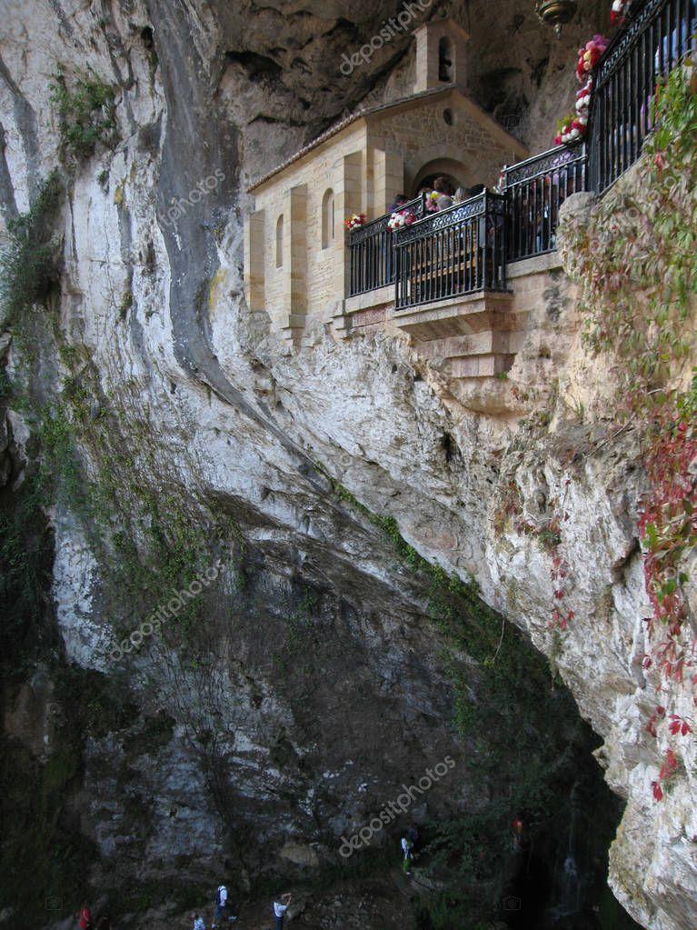 Image of Covadonga chapel, Santa Cueva sanctuary,  Spain