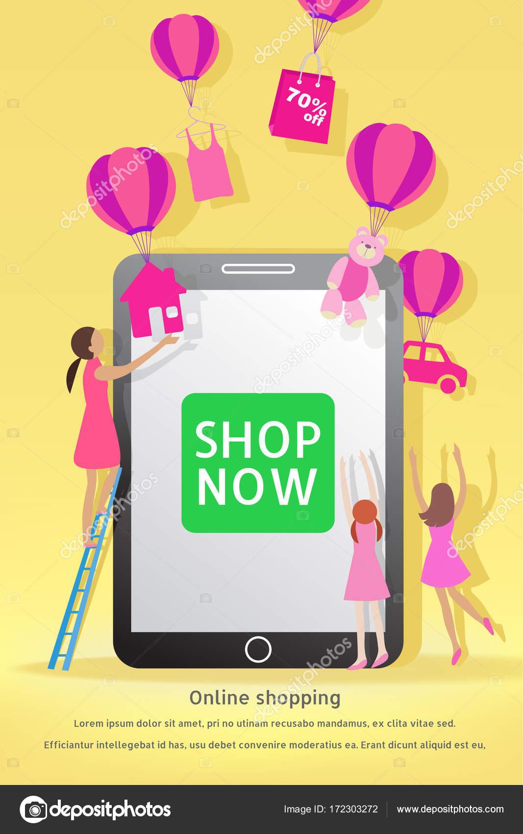 Weihnachten und Silvester Verkauf. Online-shopping-Konzept. Frau ...