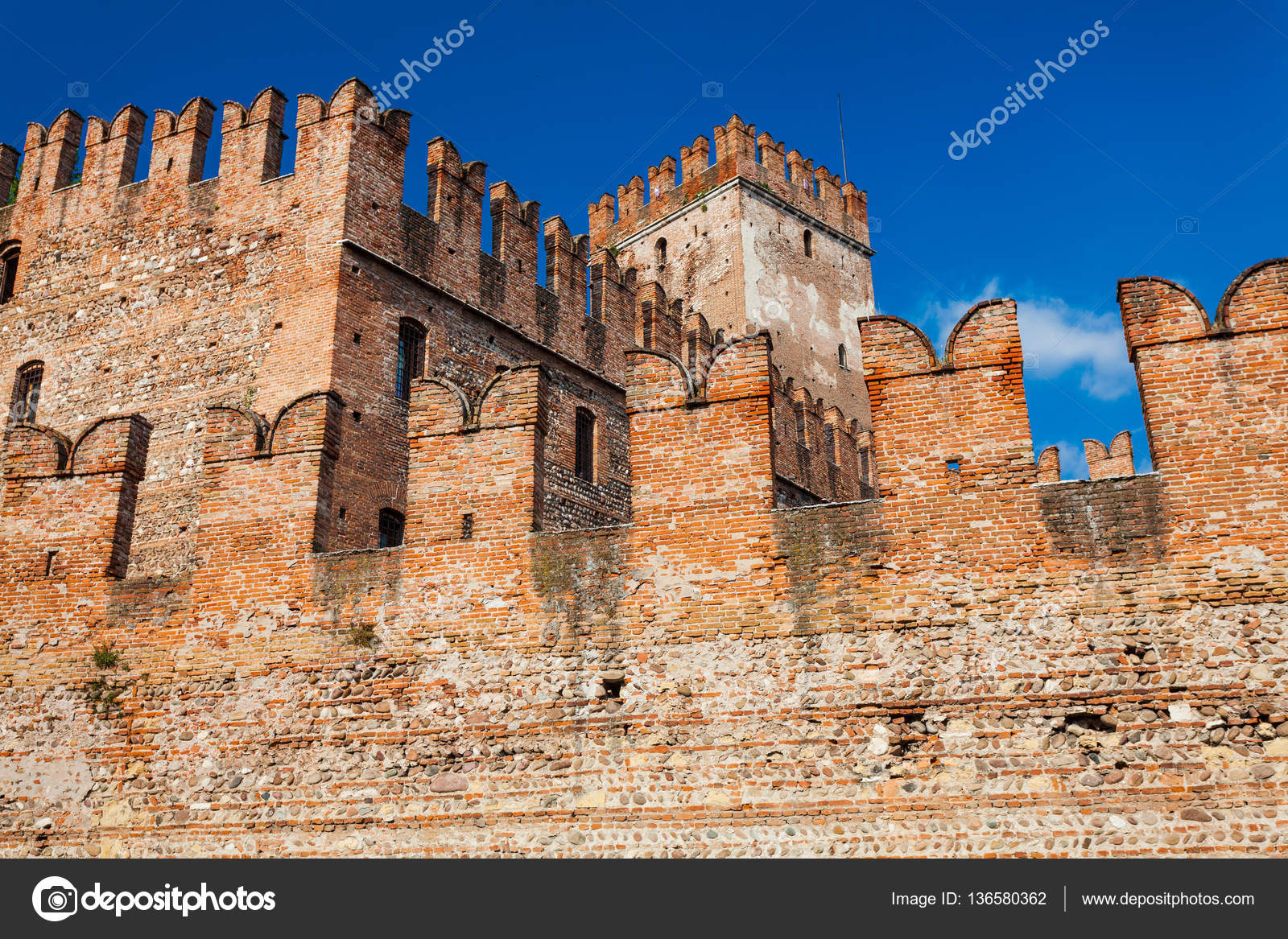 the medieval castelvecchio old castle was built between 1354 and 1356 by order of cangrande ii della scala photo by zazamaza