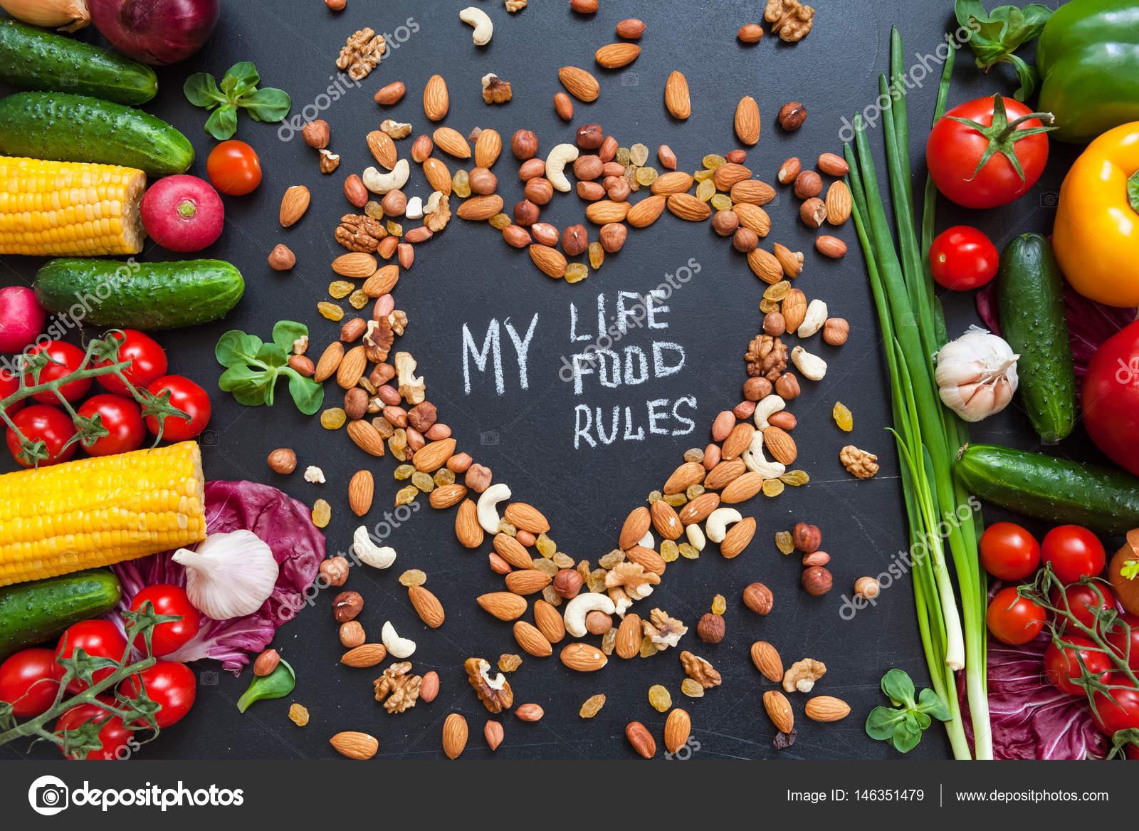Imágenes Alimentos Saludables Con Frases Fondo Alimentos