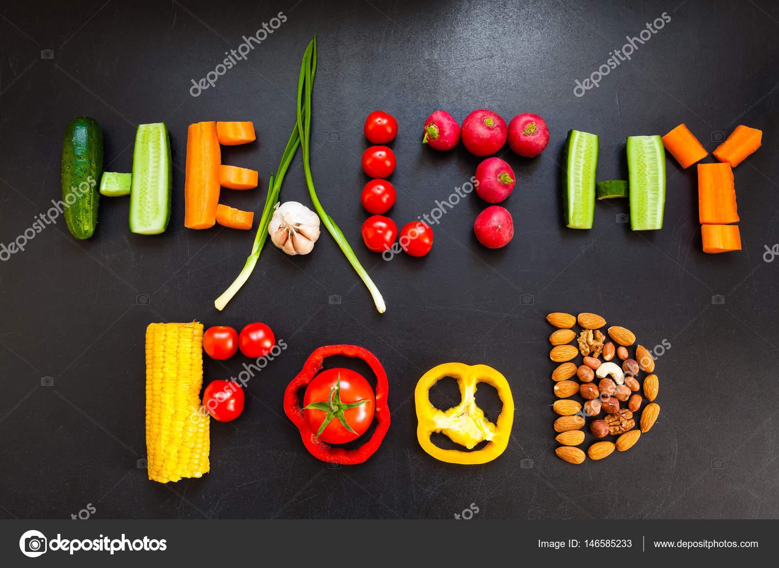 Frase Alimentos Saludables Hace Frutos Secos Verduras