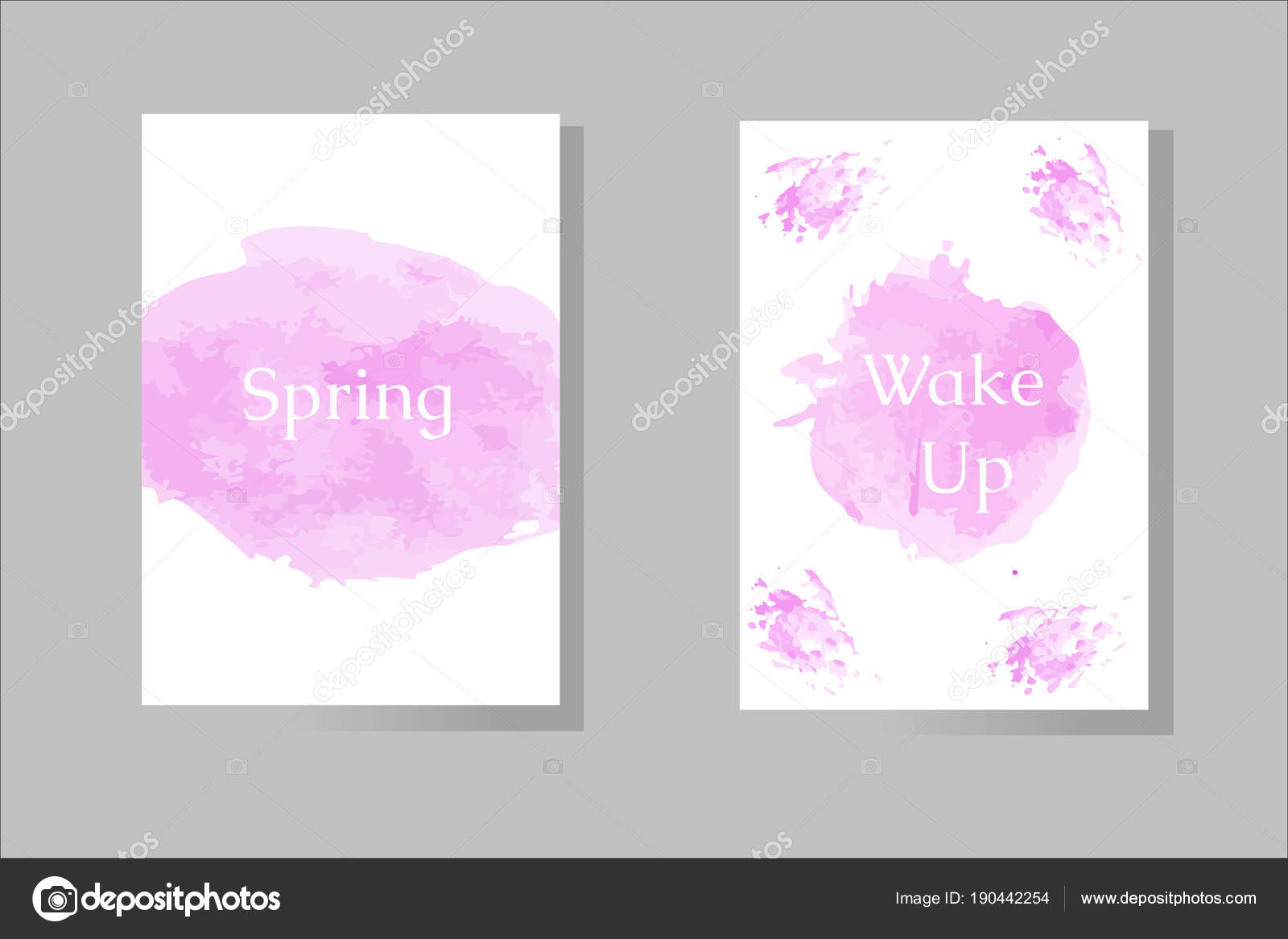 Watercolor Vector Template For Your Design Brush Splash Purple Style With A Spring And Wake Up Word On It By Samuel Miles