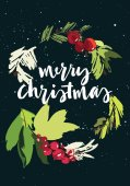 Photo Christmas vector greeting card
