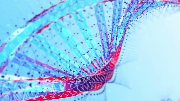 Koncepce designu Dna molekula struktura vědy chemie technologie s vysoce kvalitní příze krásný pohyb. Bílé pozadí