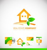 Real estate house logo icon design
