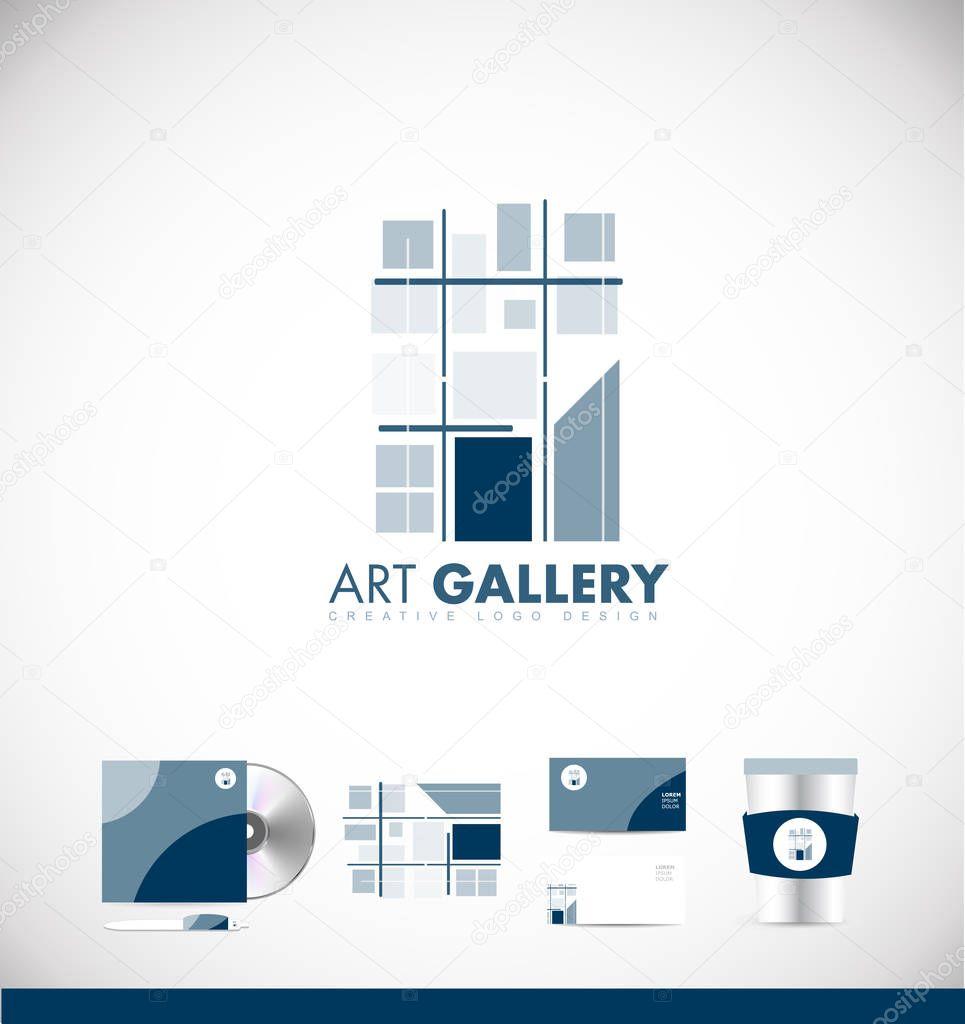 Arte Galería abstracto icono diseño — Archivo Imágenes Vectoriales ...