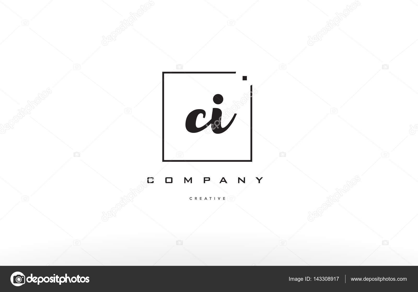 Ci C Ich Hand Schreiben Brief Firma Logo Icon Design Stockvektor