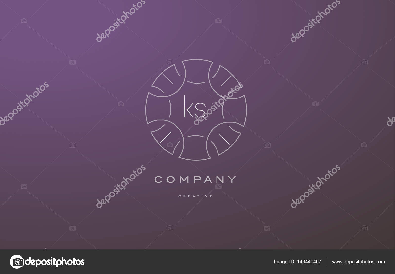 Ks K S Monogram Floral Line Art Flower Letter Company Logo Icon Stock Vector C Dragomirescu 143440467