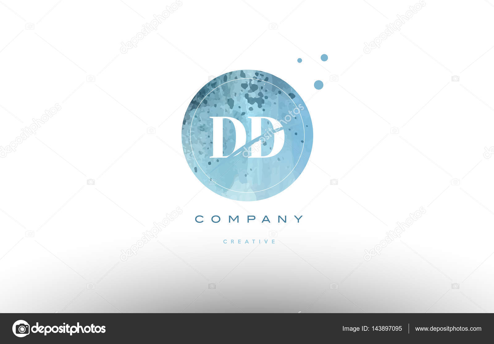 ca98dd343 DD d d aquarela grunge vintage alfabeto empresa carta combinação logotipo  círculo vetorial ícone modelo de design — Vetor de ...