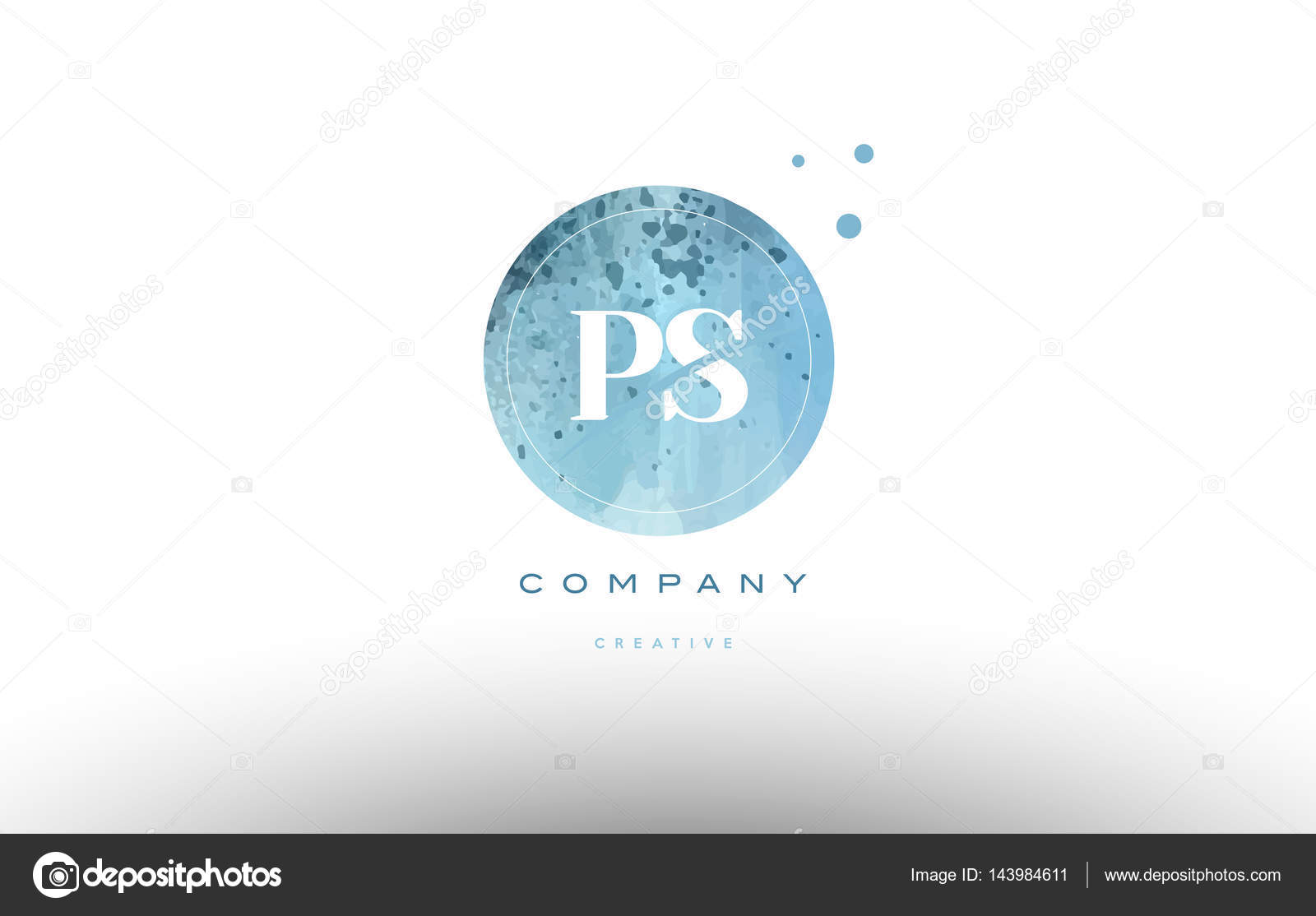 Ps P S Watercolor Grunge Vintage Alphabet Letter Logo  Stock