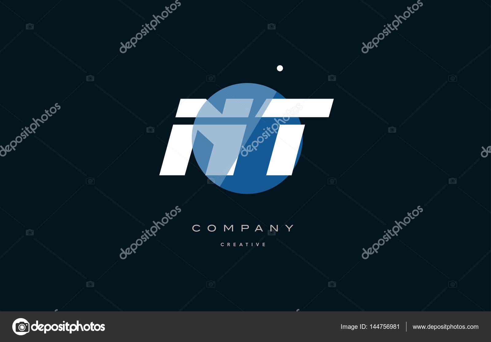 Nt N T Blue White Circle Big Font Alphabet Company Letter Logo