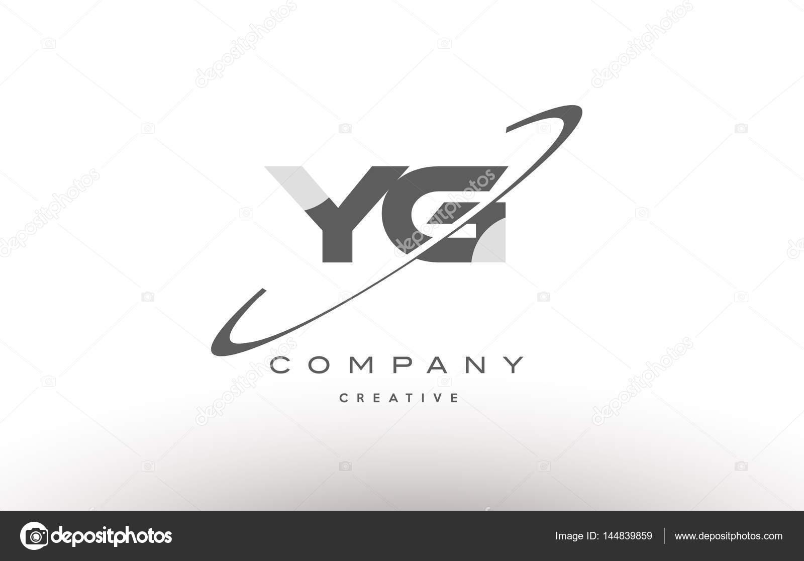 Yg y g swoosh grey alphabet letter logo u2014 stock vector