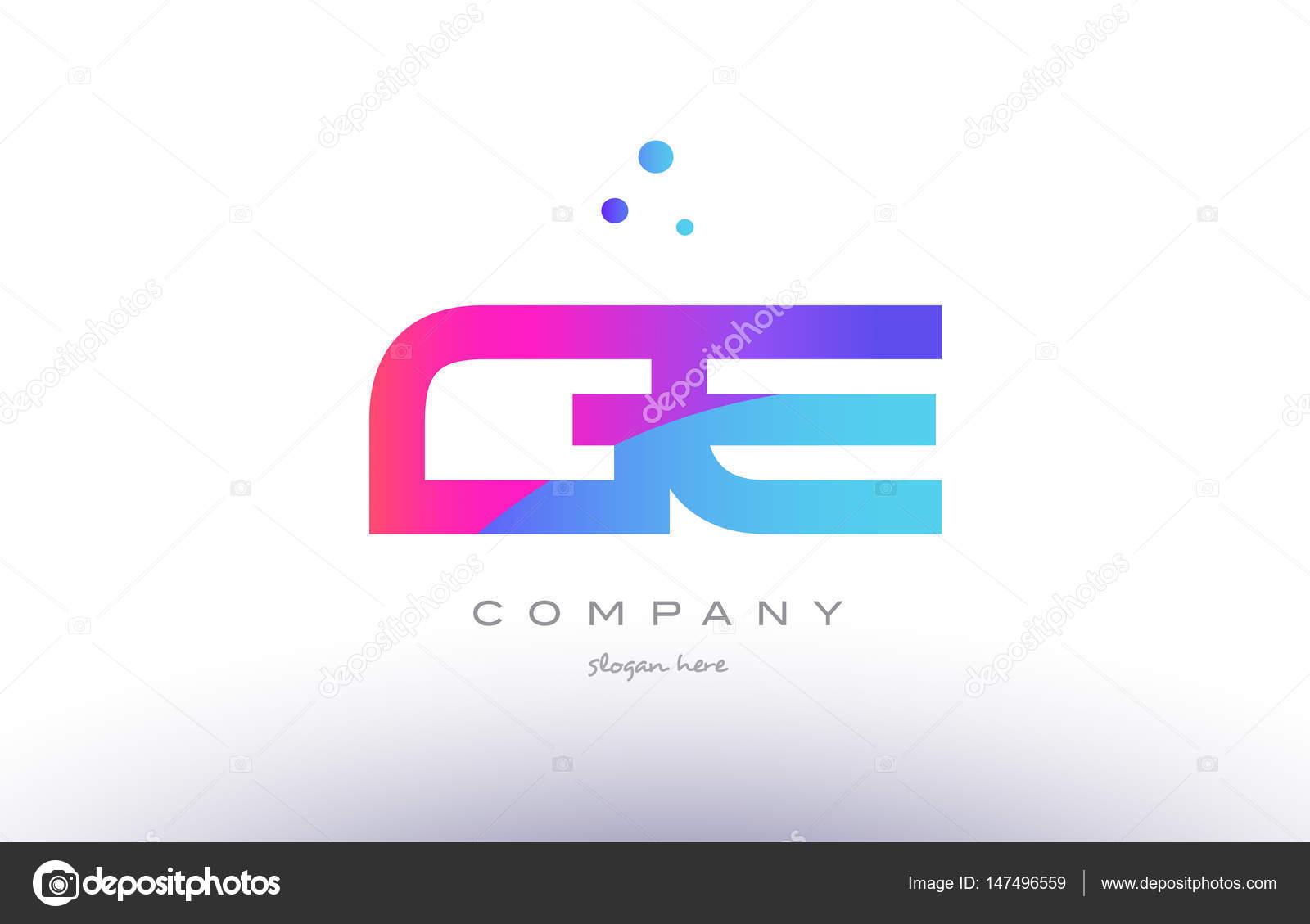 Ge G E Creative Pink Purple Blue Modern Dots Alphabet Gradient Company Letter Logo Design Vector Icon Template By Dragomirescu