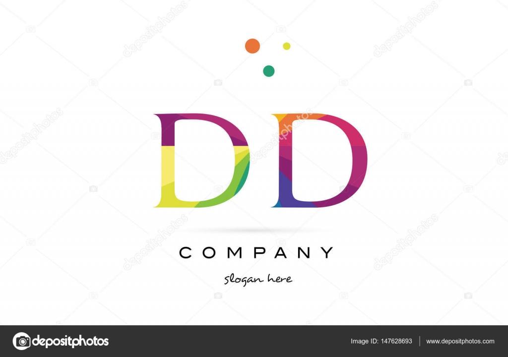 Dd d Farben d kreative Regenbogen Alphabet Buchstaben Logo Symbol ...