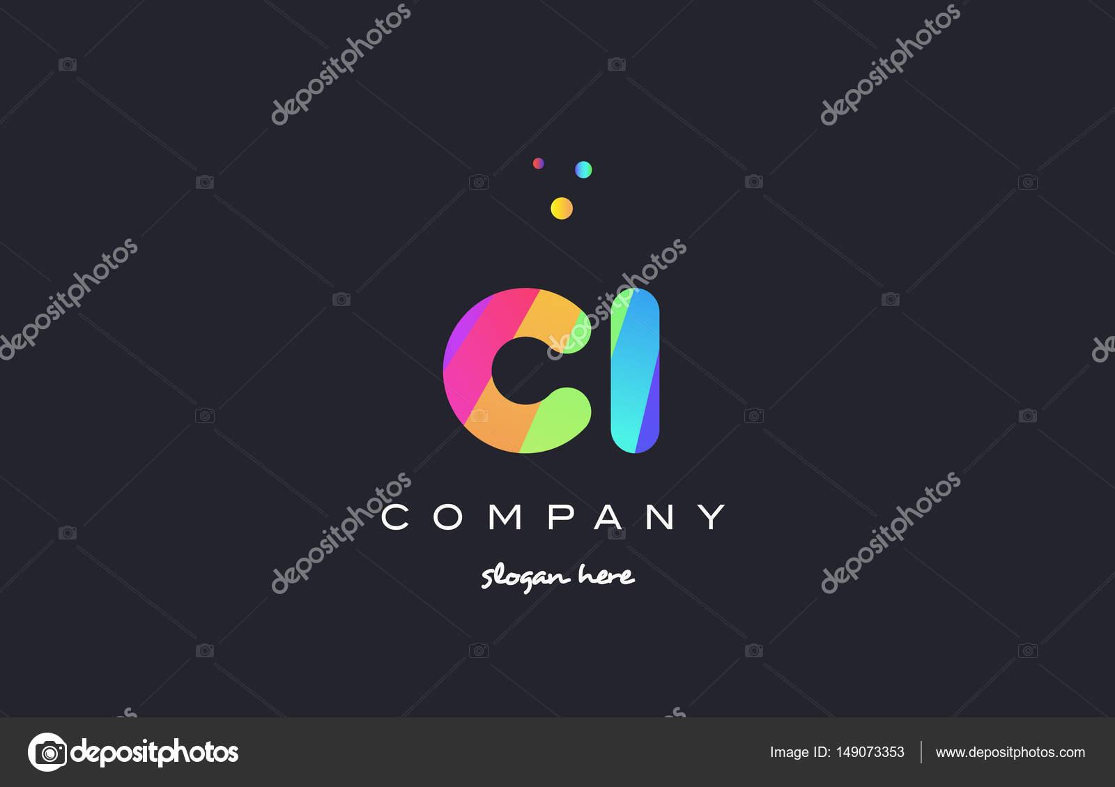 Ci C I Colored Rainbow Creative Colors Alphabet Letter