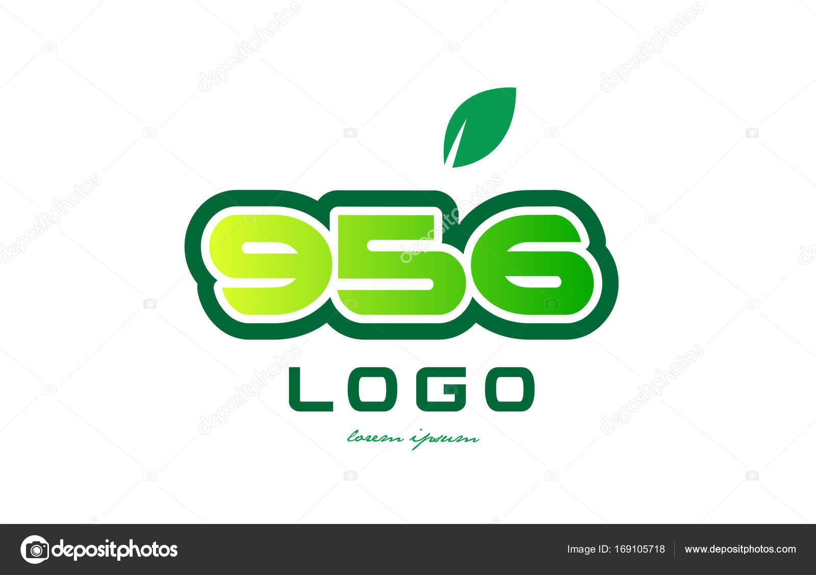 Diseño icono dígito numérico número 956 — Archivo Imágenes ...