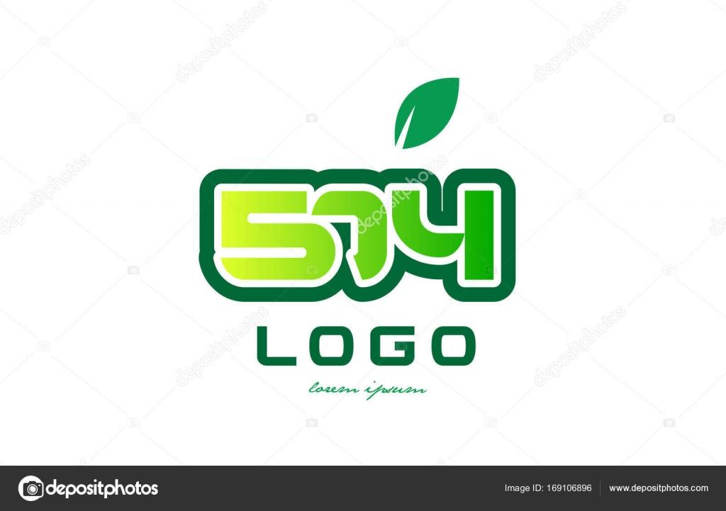 Diseño icono dígito numérico número 574 — Vector de stock ...