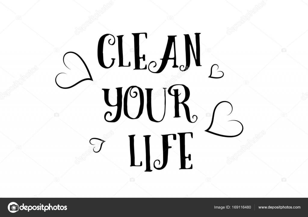Reinigen Sie Ihr Leben Liebe Zitat Logo Grußkarte-Plakat design ...