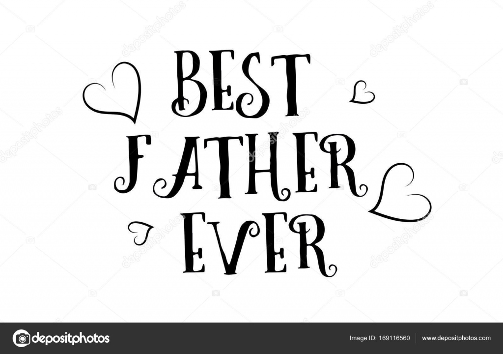 Best Father Ever Love Quote Logo Greeting Card Poster Design Stock