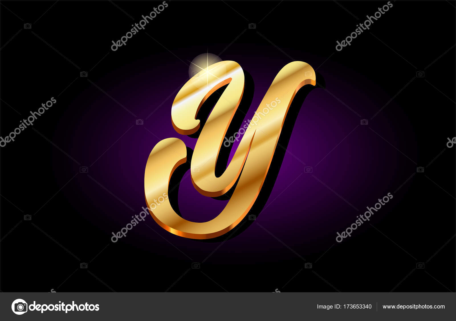 Y alphabet letter golden 3d logo icon design stock vector y alphabet letter golden 3d logo icon design stock vector thecheapjerseys Image collections