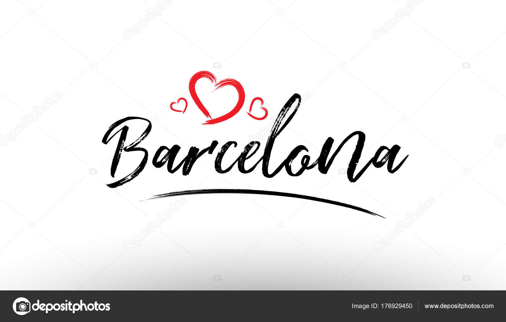Vector Logo De Barcelona Nombre De Ciudad Europea De Europa