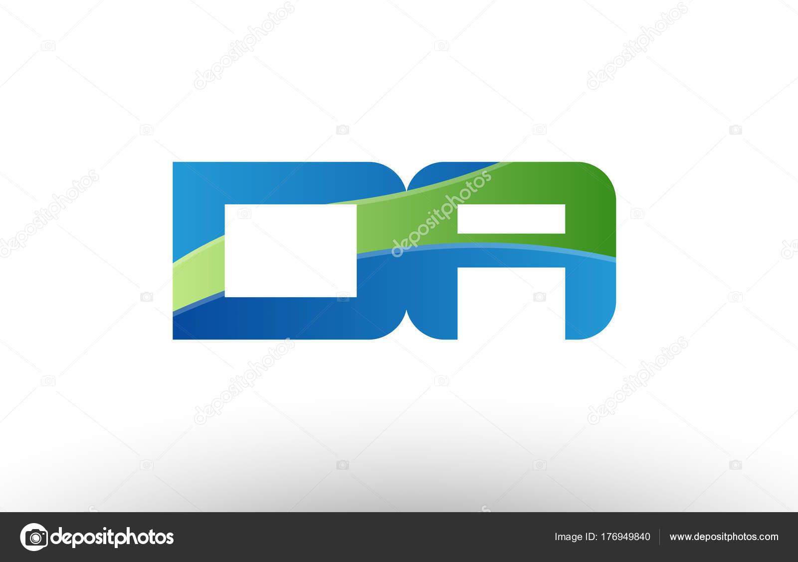 blau grün da d ein Alphabet Buchstaben Kombination Symbol Logodesign ...