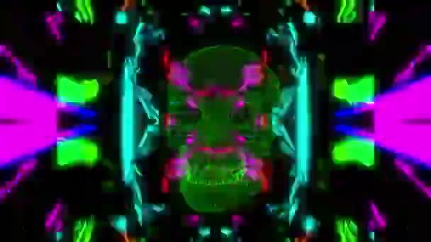 koponya Kaleidoszkóp hatállyal villogó