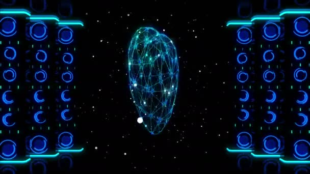 3D heart rotating in space