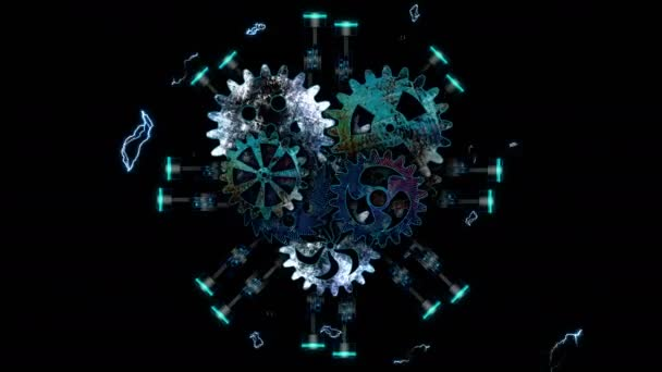 gears in form of heart spinning slowly