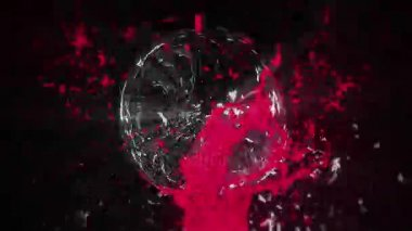 Colorful liquid splashing