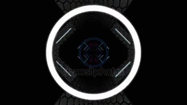 pohybující se tunelem neon