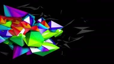 Bezešvé cyklických barevné postavy