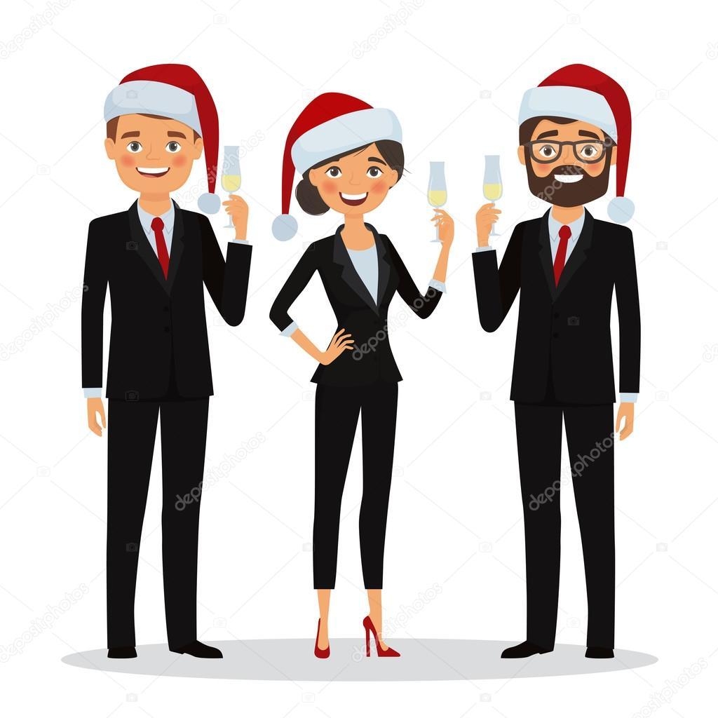 Fotos De Hombres Felicitando La Navidad.Felicitar A Gente De Negocios Por Vacaciones De Navidad