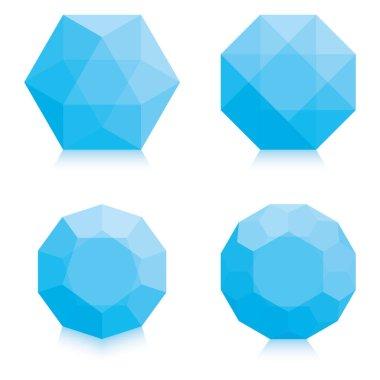 light blue vector polygons