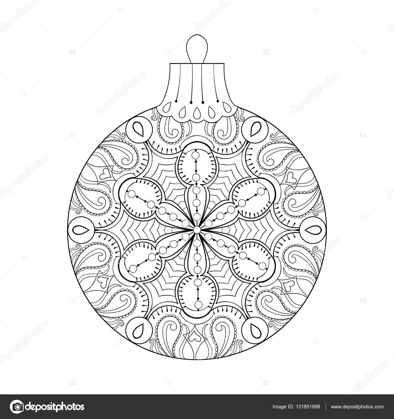 Vector vintage bola de la Navidad, año nuevo 2017 elemento de ...