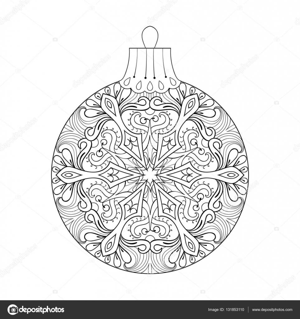 Sfera Di Natale Dell Annata Di Vettore Per Albero Elemento Di