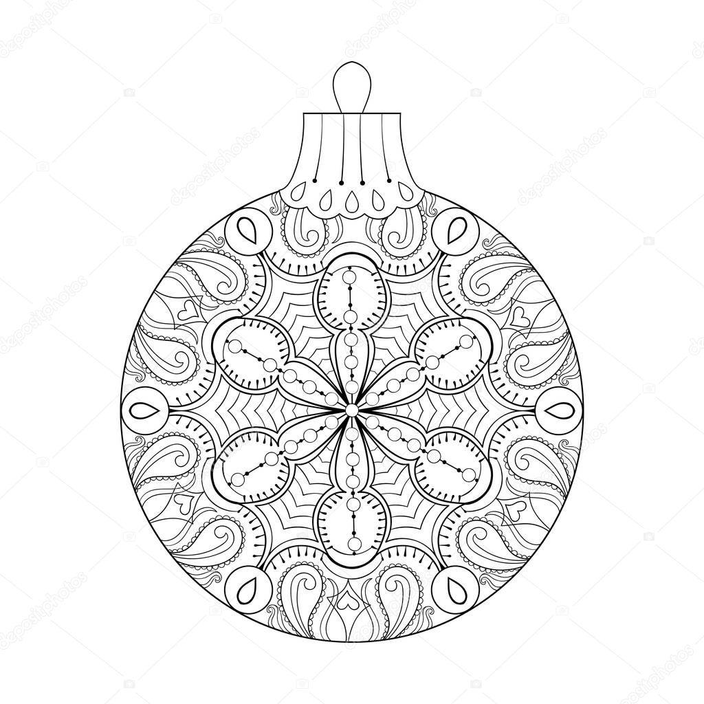 Vector vintage bola de la navidad a o nuevo 2017 elemento for Adornos navidenos 2017 trackid sp 006
