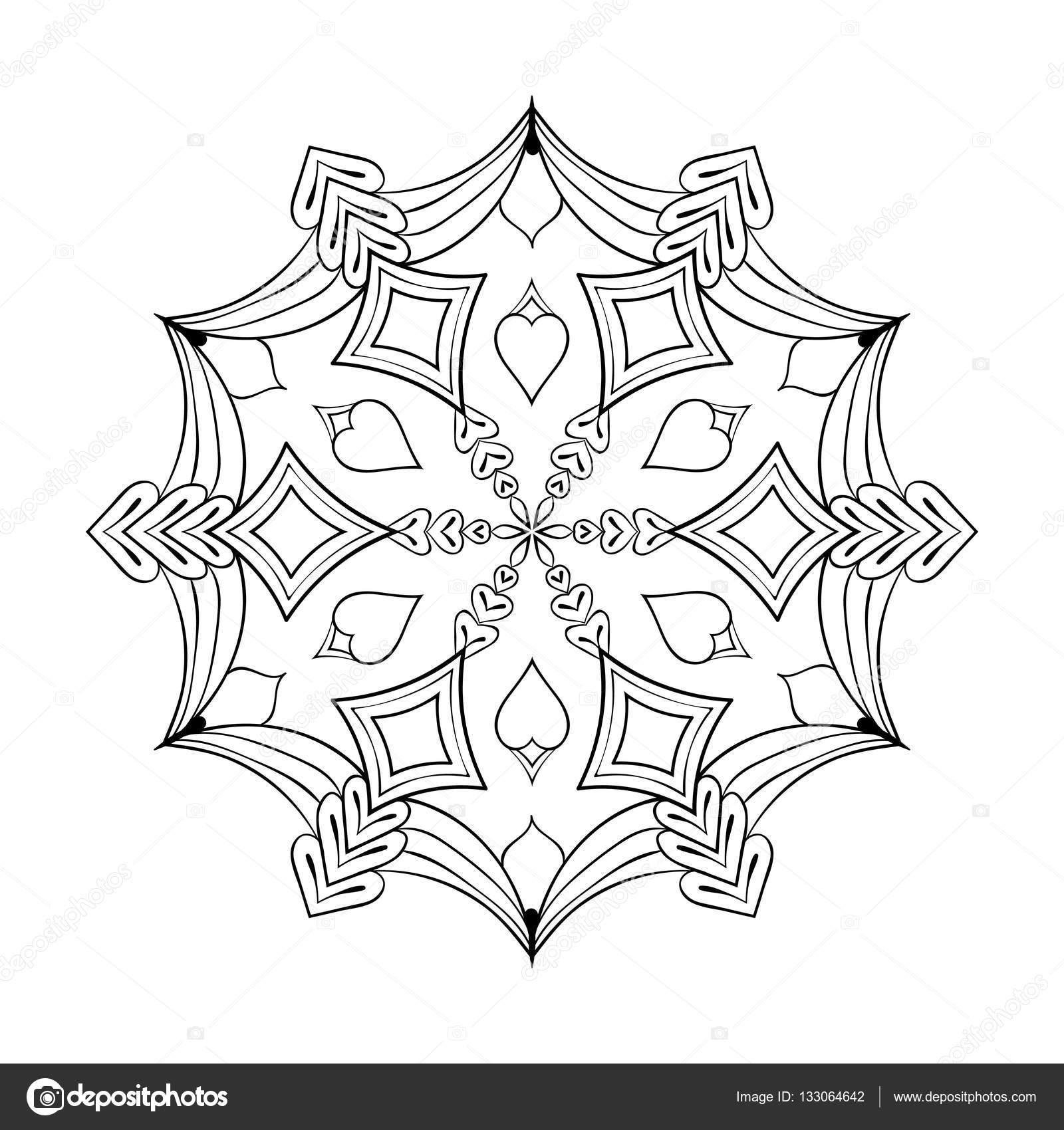 Vektor-Papier Ausschnitt Schneeflocke Zentangle stilgerecht, doodle ...