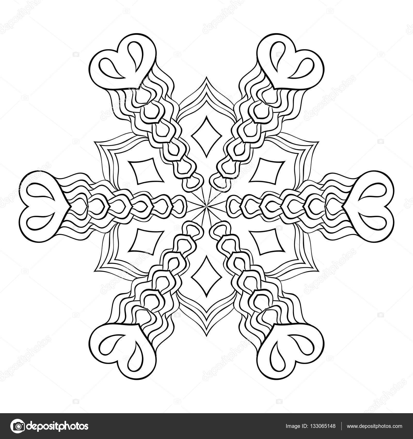 Mandala inverno da colorare acolore for Zentangle per bambini