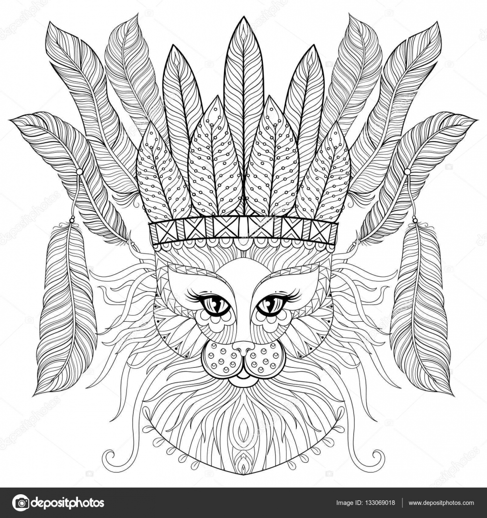 Amazon.com: Boho Peacock Coloring Poster or Large Adult Coloring ... | 1024x963