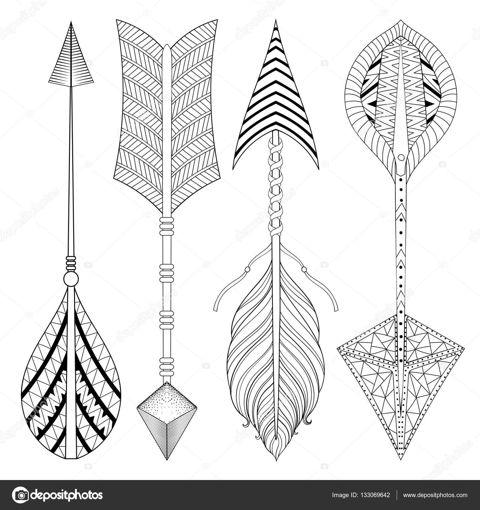 depositphotos_133069642 stock illustration boho chic ethnic arrow set