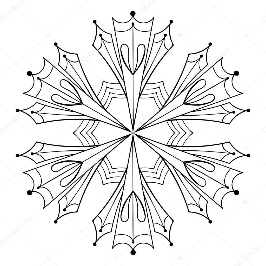 vektorpapier ausschnitt schneeflocke zentangle