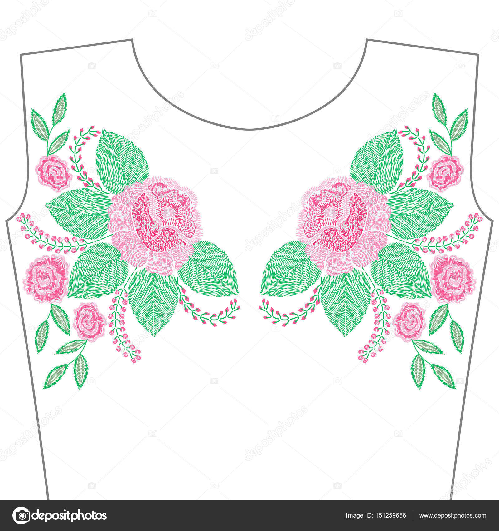 Dibujos: flores y rosas para bordar | Puntadas de bordado con flores ...