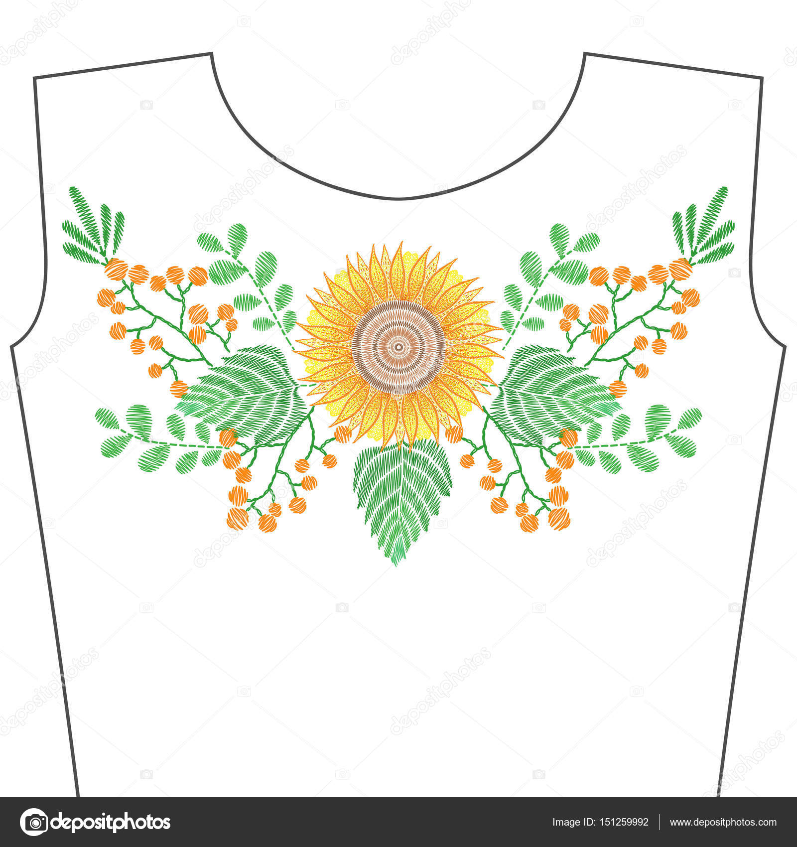 Dibujos: girasoles para bordar | Puntadas de bordado con flores de ...