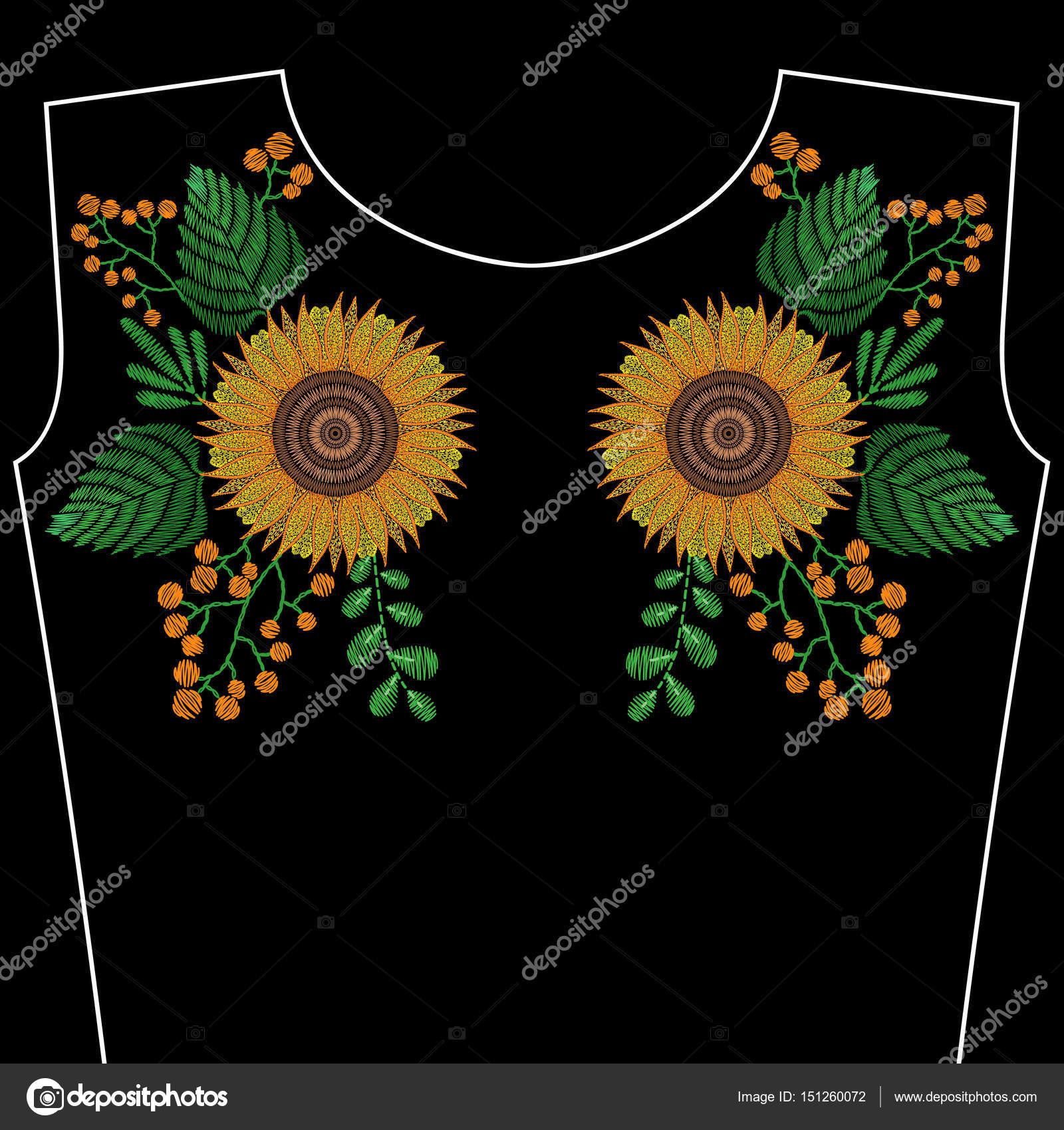 Imagenes Girasol Para Bordar Puntadas De Bordado Con Flores De