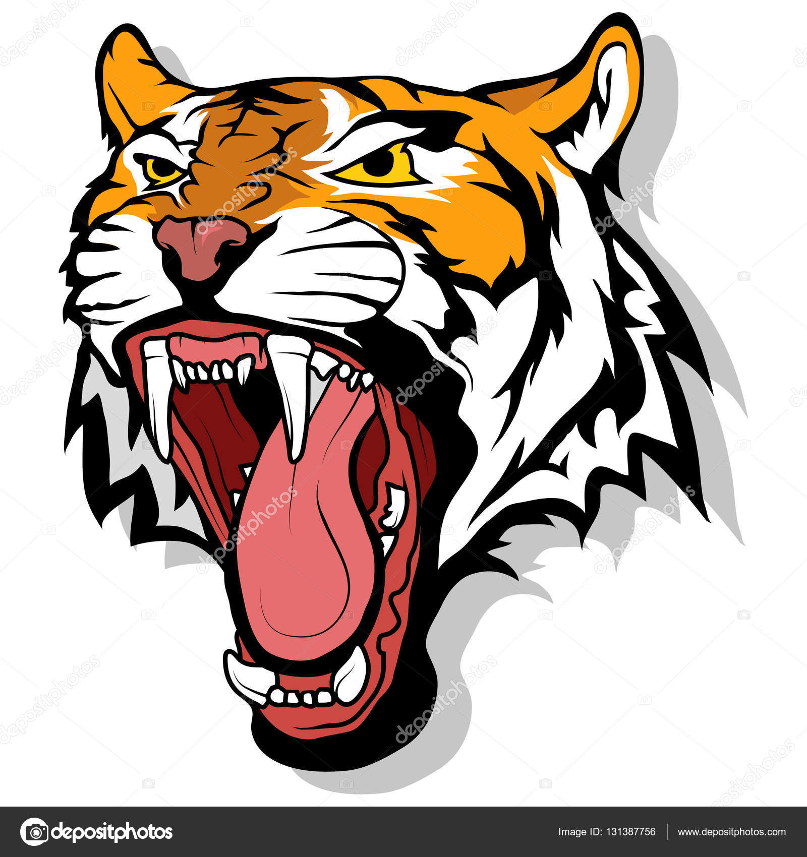 tiger logo, illustration — Stock Vector © korniakovstock ...