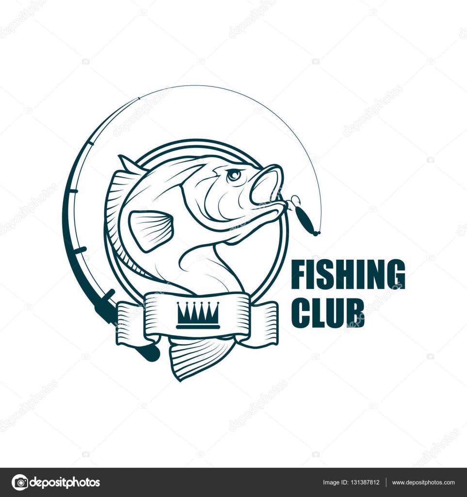 fishing club logo � stock vector 169 korniakovstockgmail