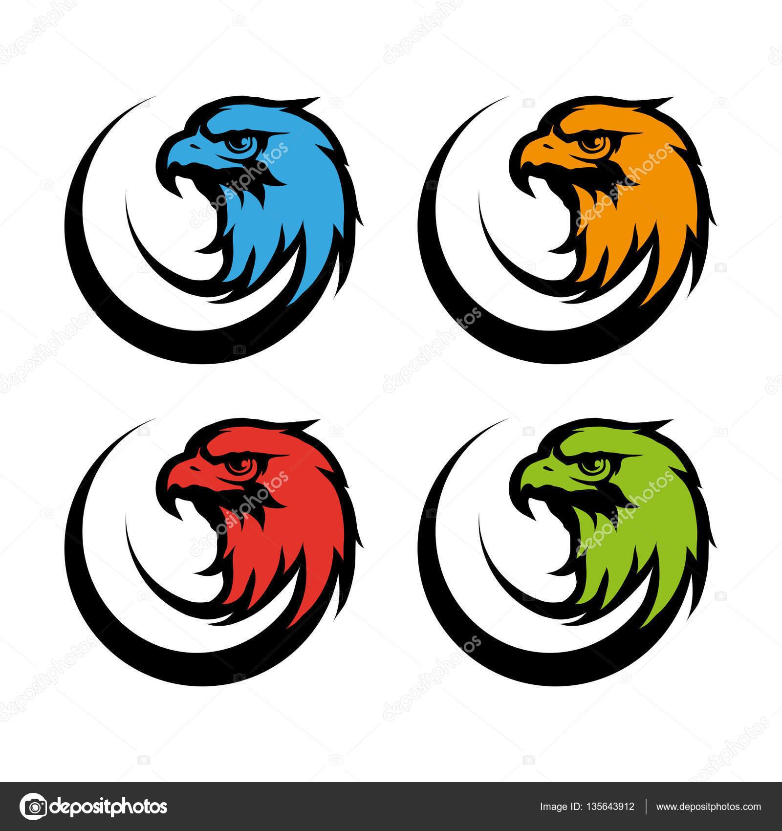 color eagle heads u2014 stock vector korniakovstock gmail com 135643912