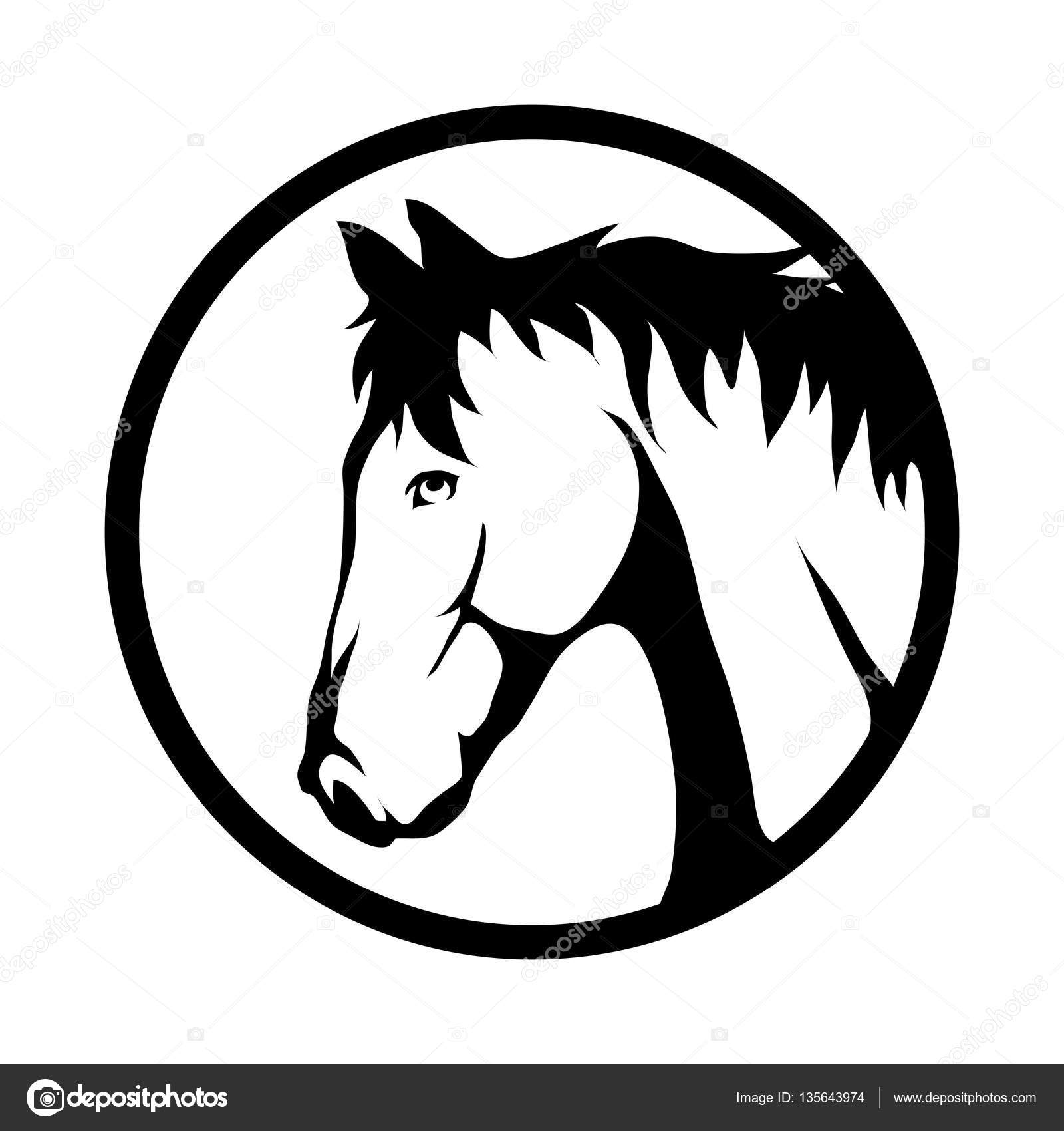 horse head logo stock vector korniakovstock gmail com 135643974 rh depositphotos com horse head logo designs horse head logos for trailers